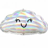 """Фольгированный шар """"Облако с глазами перелив"""""""