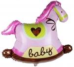 Воздушный шар Лошадка качалка для девочки