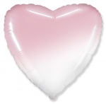 "Шар сердце ""Градиент розовый"" 45 см"