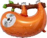 """Фольгированный шар """"Ленивец на ветке"""""""