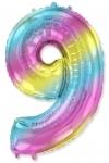 Цифра 9 нежная радуга