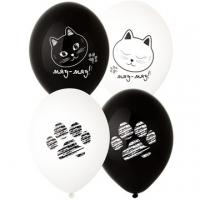 """Воздушные шары """"Котики и лапки"""""""