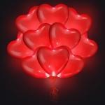 Воздушные шары сердца светящиеся