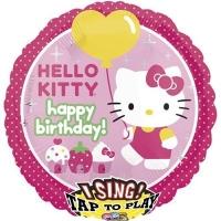 "Фольгированный музыкальный шар ""Hello Kitty"""