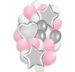 Композиция Розово-серебряных шаров
