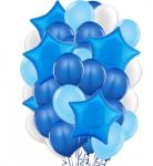 """Композиция """"Синие шары и звезды"""""""