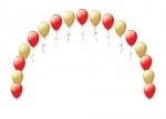 Гелиевая арка из воздушных шаров красно-золотая