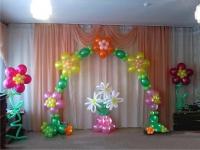 Арка из шаров цветочная