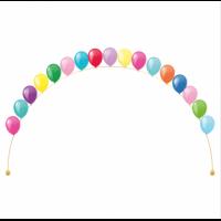 Гелиевая арка из воздушных шаров разноцветная