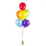 Фонтан из воздушных шаров разноцветный