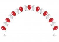 Гелиевая арка из воздушных шаров красно-белая