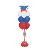 Фонтан из воздушных шаров Триколор