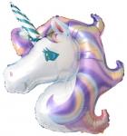 """Шар """"Голова единорога"""" фиолетовый"""