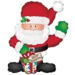 """Фольгированный шар """"Санта с подарком"""""""