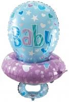 Воздушный шар Соска голубая