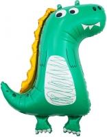 """Фольгированный шар """"Динозаврик"""" зеленый"""