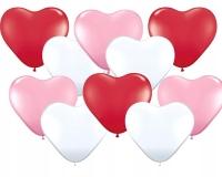 Шары с гелием сердца разноцветные 30 см