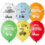 """Воздушные шары """"С Днем Рождения"""" машинки"""