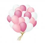 Облако бело-розовых шаров