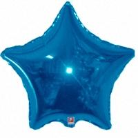 Фольгированная звезда синяя