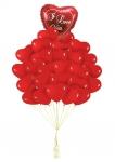 Букет воздушных шаров сердца красные