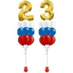 Композиция триколор с цифрами 23
