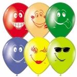 """Воздушные шары """"Смайлы разноцветные"""""""