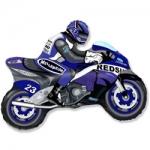 """Фольгированный шар """"Мотоцикл синий"""""""