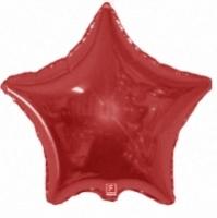 Фольгированная звезда красная