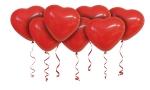 Воздушные шары с гелием сердца красные 30 см