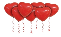 Воздушные шары с гелием сердца красные 41 см