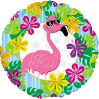 Воздушный шар круг Фламинго