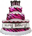 Воздушная фигура тортик со свечками