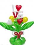 Букет из воздушных шаров  Love