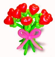 """Букет из воздушных шаров """"Сердца"""""""