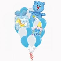 """Букет из воздушных шаров """"Подарок новорожденному"""""""