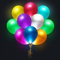 Светящиеся шары с гелием