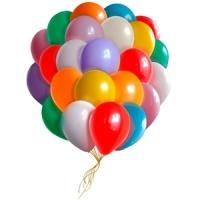 Облако воздушных шаров с гелием