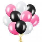 """Облако шаров """"Белые, розовые и черные"""""""