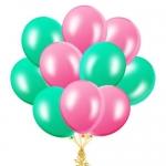 Облако шаров розовые и мятные
