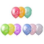 Воздушные шары с днем рождения металлик