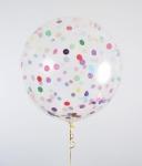 Большой воздушный шар с гелием и конфетти