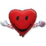 """Фольгированный шар """"Сердце с ручками"""""""