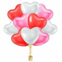 Воздушные шары сердца разноцветные 41 см