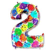 Цифра 2 Разноцветная
