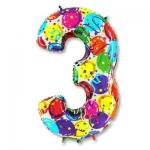 Цифра 3 Разноцветная