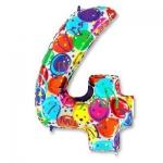 Цифра 4 Разноцветная