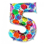 Цифра 5 Разноцветная