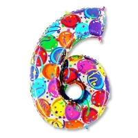 Цифра 6 Разноцветная