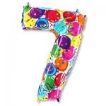 Цифра 7 Разноцветная